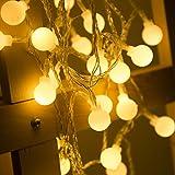 LOHAS® 40LEDS Globe Lichterkette, Innen Deko Glühbirne 5Meter, LED Lichterkette Warmweiß, 5V, IP42, USB-Stromversorgung, Weihnachtsbeleuchtung für Weihnachten/Hochzeit/Party/Weihnachtsbaum