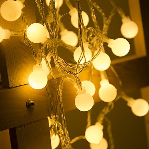 LOHAS 40LEDS Globe Lichterkette, Innen Deko Glühbirne 5Meter, LED Lichterkette Warmweiß, 5V, IP42, USB-Stromversorgung, Weihnachtsbeleuchtung für Weihnachten/Hochzeit/Party/Weihnachtsbaum