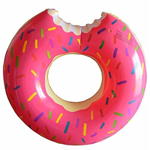 Schwimmen Ring Sommer Krapfen Entwurfs Art Schwimmen Ringe 60 ~ 120cm Größe Wasser-Pool-Spaß-Schwimmer-Spielwaren Aufblasbares für Erwachsene und Kinder Aufblasbares Schwimmen-Ring-Strand oder Pool-Schwimmen-Spielzeug (90cm, Pink) Schwimmer Für Die Netze