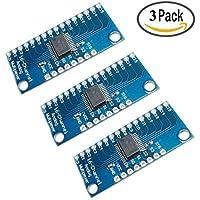 HiLetgo CD74HC406716-Kanal-Digital-Analog-Multiplexer-Breakout-Modul, CMOS, 3 Stück, für Arduino