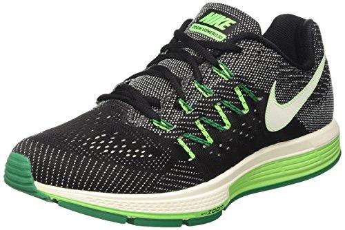 Nike Air Zoom Vomero 10, Scarpe da Corsa Uomo, Multicolore (Black/Sail-Lcd Green-Vltg Grn), 42 EU