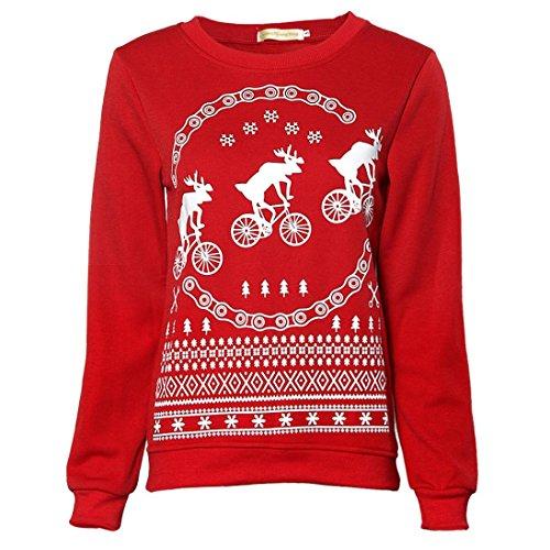 Ouneed® Sweat Shirt Verlous Rouge