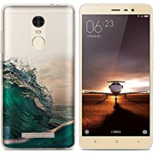 Xiaomi Redmi Note 3 Pro Prime Special Edition case, Heyqie(TM) Thin Transparent TPU Silicone Green Wave Landscape Pattern Soft Back Phone Cover Case For Xiaomi Redmi Note 3 Pro Prime SE 152 mm