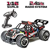 GO STOCK Rc Voiture, 1:16 Écaille Voiture Telecommandé 2.4Ghz Racing Buggy Car Off...