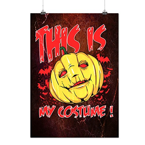 Halloween Kostüm Horror Mattes/Glänzende Plakat A4 (30cm x 21cm) | (Halloween Empörend Für Kostüme)