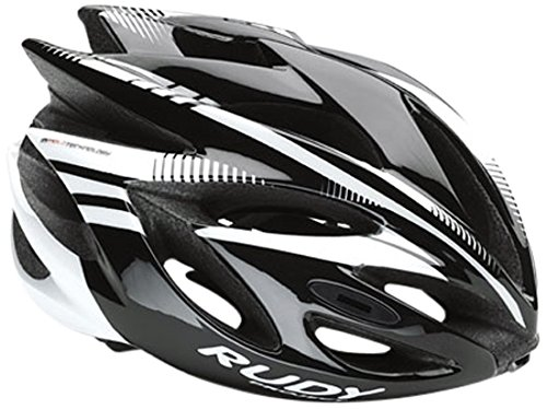 Rudy Project Rush Casco, Black/White Shiny, M