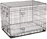 Ellie-Bo Black 42 inch Deluxe XLarge 2 Door Folding Dog Puppy Cage