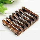 Seifenschale Seifenschale Seifenspender Holz dunkel Ständer Badezimmer Zubehör Küche