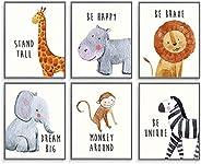 Safari Baby Animals, Baby Nursery Decor, Baby Room Decor, Playroom Wall Art Decor Prints, Boys & Girls Roo