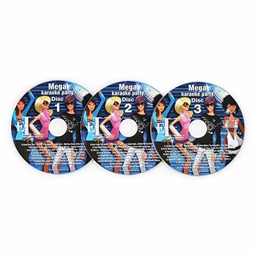 auna Karaoke CD Set • 3er CD-Set • für alle Karaokeanlagen und Karaoke Player mit CD+G Unterstützung • Untertiteln • CDs mit Titeln beschriftet • 3 x 12 cm (Ø)