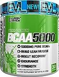 Evlution Nutrition BCAA 5000 | Suplemento En Polvo De Aminoácidos Ramificados Proporciona 5 Gramos De BCAA Calidad Premium Cada Toma | Contiene 30 Tomas | Sabor Lima y Limón