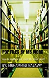 PDF Files by MS Word: How to create a PDF using MS Word 2007?