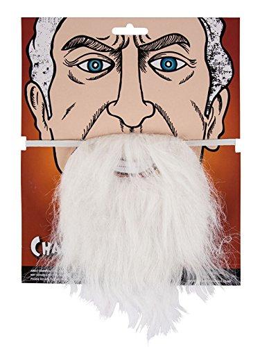 Zubehör Santa Kostüm - weiß Falsch Bart für Verkleidung Kostümparty Zauberer Schlumpf Santa Zubehör Alter Mann Neu