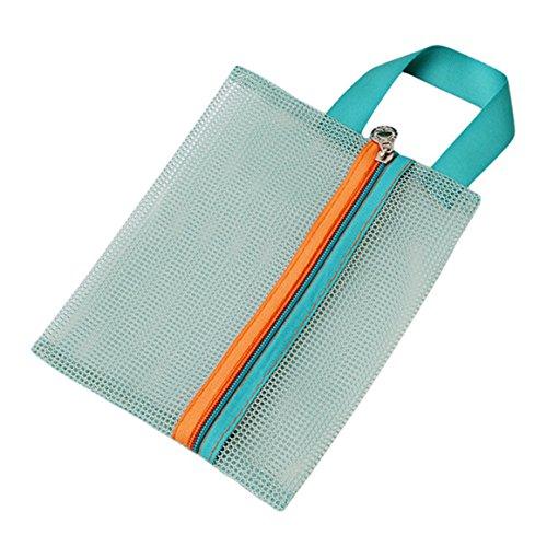 ODN 4 Stück Set Reisetasche Travel Organizer für Kleidung kosmetische Lagerung (Grün)