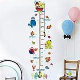 Moda para niños Medida de altura Habitación para animales Diy Enormes murales Wall Sticke