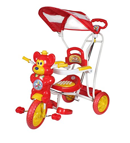 HLX-NMC KIDS FUN MOUSE TRICYCLE CUM ROCKER RED/YELLOW  available at amazon for Rs.2299