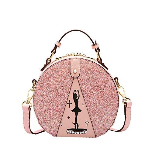 Yy.f Borse Nuove Borse Tracolla Messenger Selvaggio Moda Mini-panini Il Sacchetto Di Colore Solido Pink