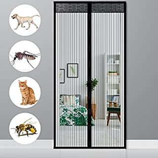 Ailiebhaus Black White Magnetic Fly Screen Door Insect Protection Schwarz Fliegengitter