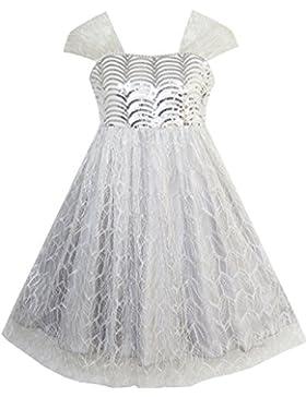 Sunny Fashion - Vestito tinta unita, bambina, grigio