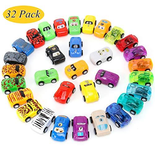 NASHRIO Zurückziehen Autos Spielzeug, 32er Pack Mini Autos Spielzeug Party Favors Auto Spielzeug Set Zurückziehen Fahrzeuge Auto Spielzeug für Kinder Jungen und Mädchen