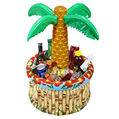 Idea Regalo - WIDMANN INFLATABLE BEACH PALM TREE PARTY DRINKS COOLER