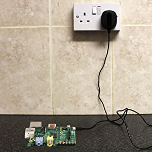 iZKA® - High Power Micro USB UK Dedicated Mains Power Wall Supply Charger For Raspberry Pi - (5V / 2.1A)