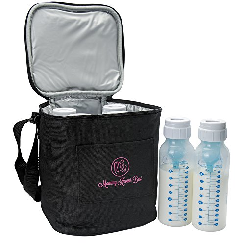 Volle 8-oz-flaschen (Mommy Knows Best Extra Hohe Muttermilch Babyflasche Thermotasche Für Isolierte Lagerung In Luftdichter Ausführung | Für Kühl-Halterung & Erhalten Aller Wichtigen Nährstoffe Für Ihr Baby | Passt Für Große 250 ml Flaschen)