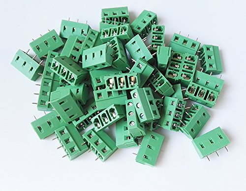 E-Simpo® 50-Pack 3 Poles 5.08mm Pitch PCB Screw Terminal Block,300V 10A, ELT128-5.08-3P Test