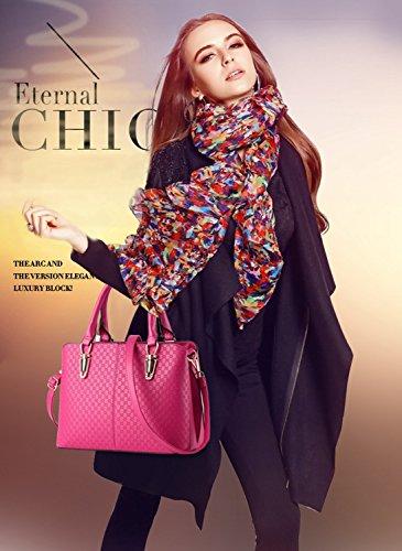 NICOLE&DORIS tendenza della borsa di modo femminile grande borsa retrò borse sacchetto di spalla casuale borsa Messenger per le donne(Rose�?Rose