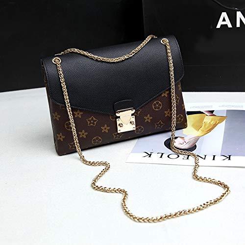 LFGCL Bags womenHand Chain Bag Schulter diagonal Cross Bag kleine quadratische Tasche, schwarz