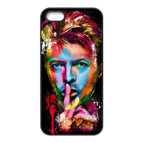 David Bowie coque iPhone 5 5S Housse téléphone Noir de couverture de cas coque EBDXJKNBO13416
