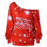 Soupliebe Frauen große Größe Frohe Weihnachten Alphabet Print Langarm Spleißen Top T Shirt Kapuzen Kapuzenpullover Hoodie Pullover Sweatshirt