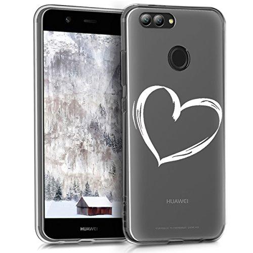kwmobile Huawei Nova 2 Hülle - Handyhülle für Huawei Nova 2 - Handy Case in Weiß Transparent