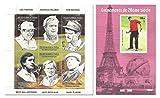 Il francobollo set di golf per raccogliere con Lee Trevino, Tiger Woods, Tom Watson e altri - 2 fogli con 7 francobolli - Stampbank - amazon.it