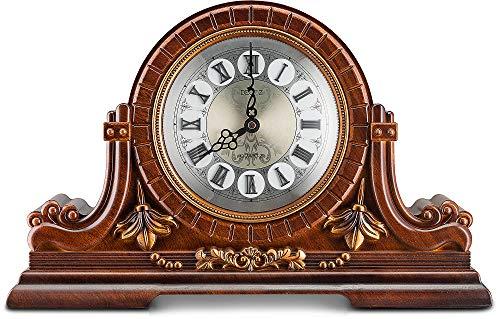 Decodyne orologio da tavolo, con numeri romani, stile antico, in legno sintetica
