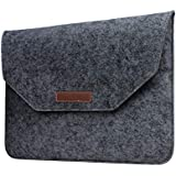 Robustrion Premium Protective Soft Felt Sleeve Cover For Apple MacBook Pro 13 Inch MacBook Air 13 Inch MacBook Pro Retina 13 Inch, HP, Dell, Surface Pro, Acer 13 Inch Laptops - Dark Grey