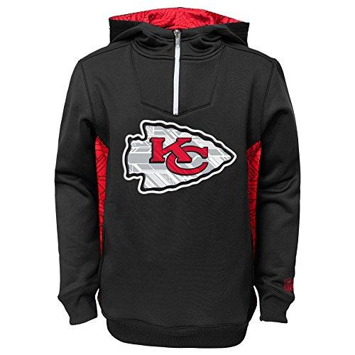 "Kansas City Chiefs Youth Bambino NFL ""Power Logo"" Performance Hooded SweatShirt Camicia"