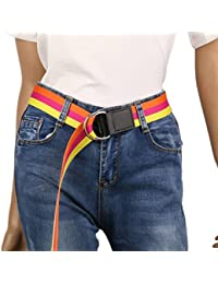 Damara Para Estudiantes Cinturón 2 Círculos Como Broche Tiras De color Machucho Y Gracioso Para Camisas