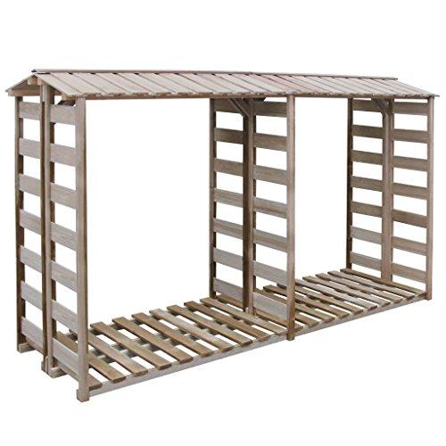 Festnight capanno deposito per legname/legna da ardere in legno di pino impregnato150x100x176 cm/300x100x176 da giardino per esterno
