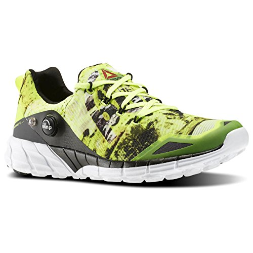 Reebok Zpump Fusion 2.0 Dunes, Chaussures de Running Entrainement Homme Multicolore - Amarillo / Gris / Blanco / Negro (Solar Yellow/Steel/Rng Wht/Black/Coal)