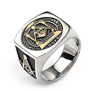 Aienid Männer Ring 925 Silber Freimaurer Ring Männer Silber Ringe