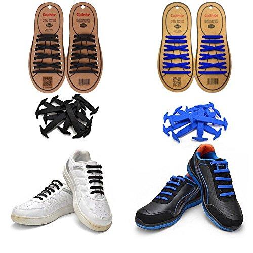 Joyshare No Tie Lacci per scarpe per bambini e adulti