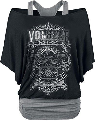 Volbeat Old Letters Maglia donna nero/grigio XL