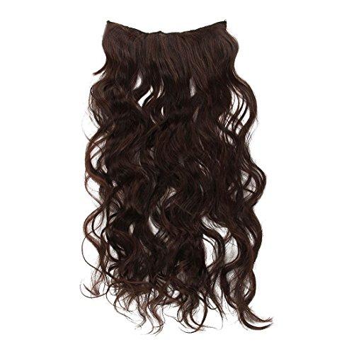 Extensions de cheveux - TOOGOO(R) 70 cm de long Extensions de cheveux avec clip epais de fil a haute temperature Brun fonce