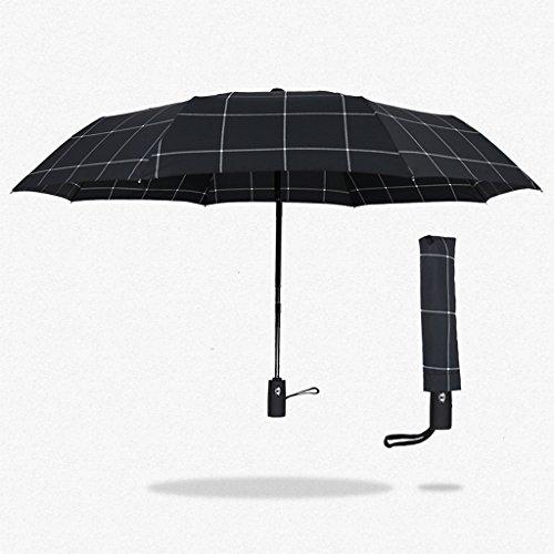 Ombrelli pieghevoli auto-apertura a chiusura doppia ombrello creativi uomini d'affari automatici tre reticolo gentiluomo antivento di alta qualità