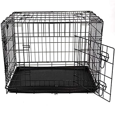 Easipet 42'' Black metal Dog/puppy cage by Easipet