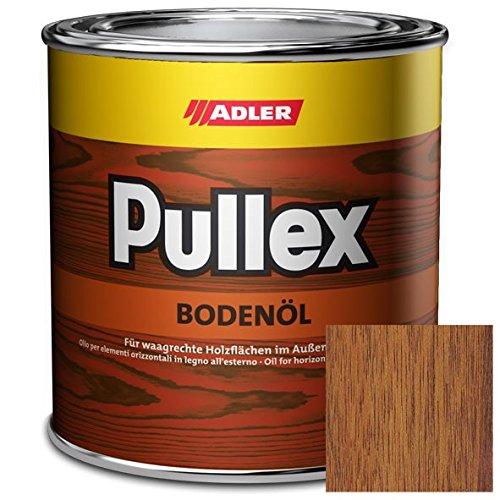 ADLER Pullex Boden Öl für waagrechte Flächen im Außenbereich - Holzöl Außen als Terrassenöl & Parkett Öl schützt Laub- & Nadelhölzer vor Verschmutzung & Feuchtigkeit - Farbe Java Braun 2,5l