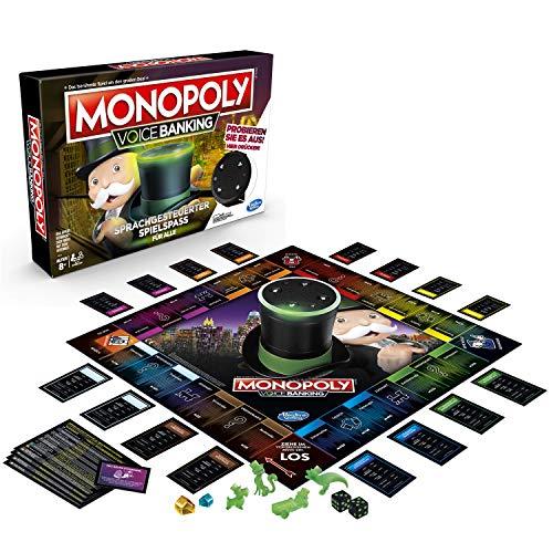 Hasbro Spiele E4816GC2 Monopoly Voice Banking, sprachgesteuerter Familienspiel ab 8 Jahren, - Hanau Monopoly