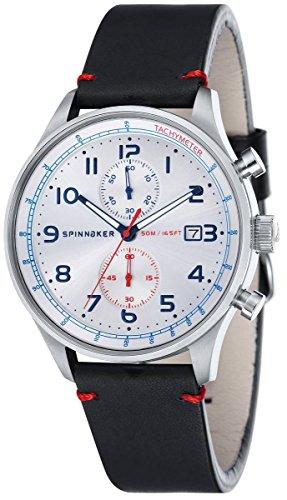 Orologio Uomo Chrono SP-5050-03 Spinnaker doppio Cinturino Pelle e Nato Cronografo