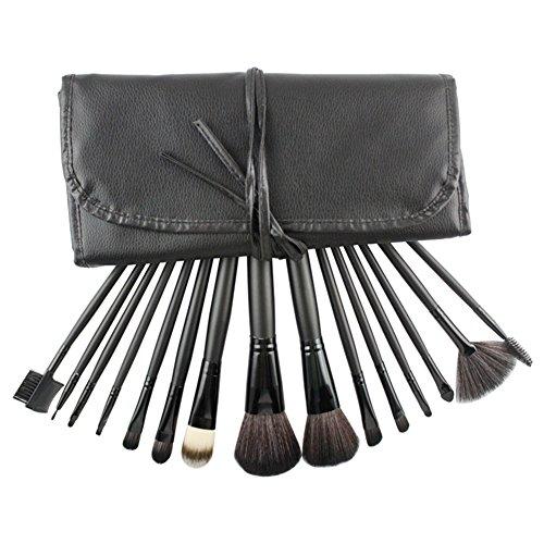 RoseFlower® Professionnel 15 Pcs Pinceaux Maquillage Trousse - Pro Make Up Cosmétique Brosse / Brushes Kit Pour Visage Blending Fondation Blush Eyeliner Poudre